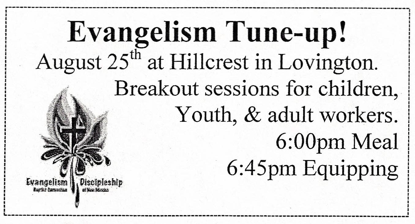 Evangelism Tune-up!