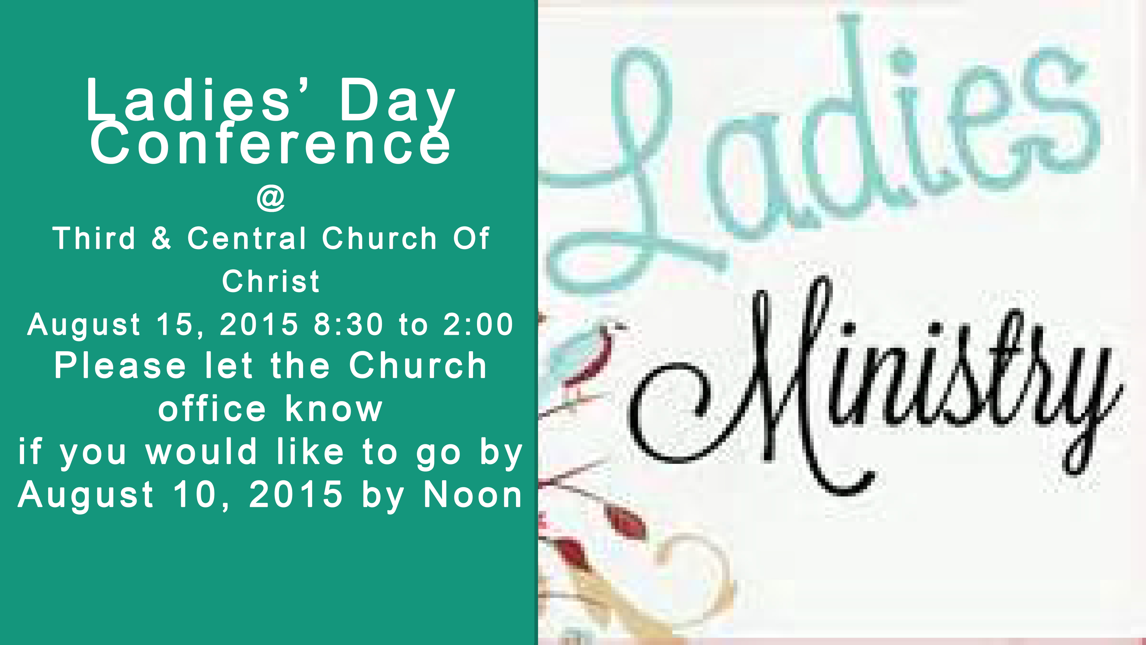 Ladies Day Conference