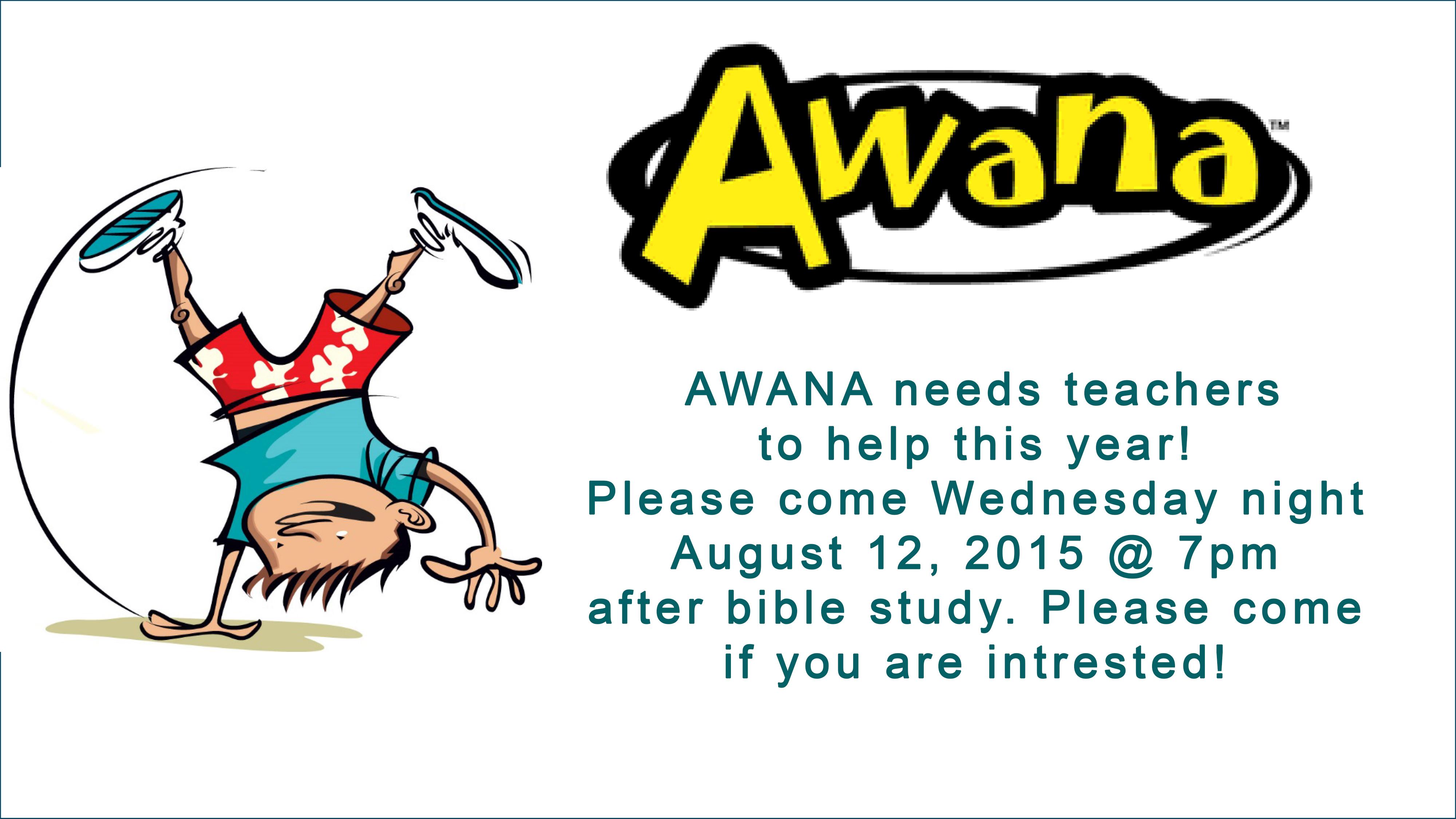 AWANA needs teachers!